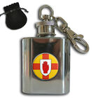 THE RED HAND OF ULSTER FLAG STAINLESS STEEL 1oz HIP FLASK KEYRING GIFT