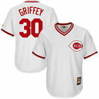 Mens Cincinnati Reds Ken Griffey Jr no30 Cool Base Cooperstown jersey M 3XL