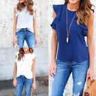 Women Ladies Summer Chiffon Short Sleeve Casual Shirt Tops Blouse T-Shirt