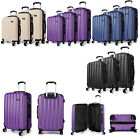 New Travel 3 Pcs Sutcase Set 4 Wheel Hand Lugguge Trolley Cases KONO