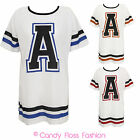 CLEARANCE WOMENS 'A' OVERSIZED TOP VARSITY LADIES FESTIVAL BASEBALL T-SHIRT TOP