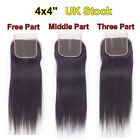 "Brazilian Lace Closure Straight Virgin Remy 7A Human Hair 4""*4"" Lace Closure"