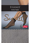 2 Pairs - Scarlet Fishnet Ankle Highs by Silky