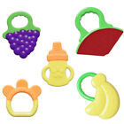Fruit Baby Teether Silicone Gum Toy Safe Toddler Chewing Dental Care Teething