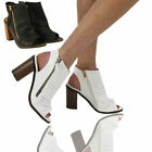 NEW WOMENS LADIES MID BLOCK HEEL SANDALS SUMMER  OPEN TOE SHOES STRAP SIZE 3-8