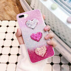 Luxury Sequins DIY Love Heart Glitter Powder Phone Case for iphone 6 6s 7 plus
