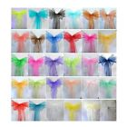 5pcs Organza Chair Cover Sashes Wedding Party Banquet Bow Decoration New DG