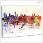 Liverpool Skyline Abstract Watercolour Canvas Print Framed Abstract Art Picture
