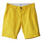 New Men's Cotton Chino Shorts Regular Fit Yellow Size 32 33 34 35 36