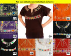 Authentic Hand made embroidered ladies Mexican blouse Chiapas 4