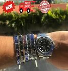 Titanium Stainless Steel Rolex SPEEDOMETER BRACELET black/blue/Red/Gold From USA