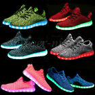Sports 7 color LED Light Lace Up Luminous Sneaker Shoes USB rechargeable Casual