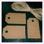 SALE Blank Kraft Paper Gift Favour Tags Wedding Xmas Label Blank Luggage