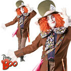 Mad Hatter Mens Fancy Dress Alice In Wonderland Book Day Character Adult Costume