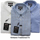 New Kirkland Men's Traditional Fit Cotton Collared Button Down Dress Shirt 15-18