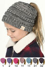 ScarvesMe C.C Four Tone BeanieTail Kids Children Soft Ponytail Messy Bun Beanie