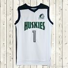 Lamelo Ball #1 Huskies Basketball Stitched Jersey High School Throwback White