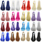 80cm Women Wigs Long Straight Cosplay Fashion Colors Wig Heat Resistant 16 Color