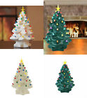 Porcelain Christmas  Nostalgic Tree Table Top  LED Lights Timer Unsophisticated or White