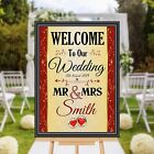 Personalised Welcome to our Wedding Sign Banner Poster Print N176 (Print Only)