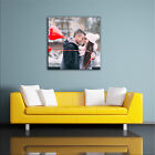 PHOTO CANVAS SQUARE. PERSONALISE 1-100 PHOTOS HIGH QUALITY PRINT & FRAME COLOUR