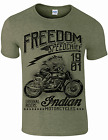 BIKER MOTORBIKE INDIAN MOTORCYCLES T SHIRT CAFE RACER CLASSIC BIKER ACE $13.87 USD on eBay