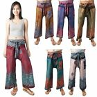 Lofbaz Women's Thai Fisherman Wide Leg Pants Trousers Maternity Yoga Harem Pants