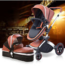 Baby Stroller 3 in 1 Hot Mom  high view travel system Bassinet proable Pushchair