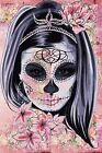 PRETTY MEXICAN SKULL CANVAS #63 GRUNGE STYLE SHABBY CHIC WOODEN FRAME CANVAS ART