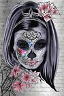 PRETTY MEXICAN SKULL CANVAS #69 GRUNGE STYLE SHABBY CHIC WOODEN FRAME CANVAS ART