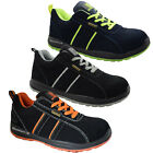 MENS ULTRA LIGHTWEIGHT STEEL TOE CAP SAFETY WORK TRAINERS SUEDE LEATHER LADIES