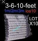 10 X LOT 8 Pin iPhone 6s7 Plus 6 5s 5 SE 7USB Data Sync Charger Cable for Apple