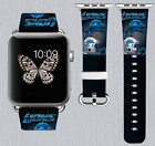 Detroit Lions Apple Watch Band 38 40 42 44 mm IWatch PU Leather Strap 177 $24.99 USD on eBay