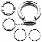 1.2mm x 8mm surgical steel segment rings hoops bcrs