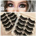 TOP DEAL 3 / 5 Pairs 3D Mink Fur lashes 10 pairs Iconic Eyelashes USA SELLER