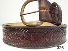 New Leather Western Eagle Basketweave Belt Any Size 26-48 with Std Buckle