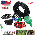 25m DIY Auto Micro Timer Plant Self Watering Drip Irrigation Dripper Hose System