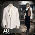 Steampunk aristocrat hall of glory flounce lantern sleeve henley shirt【JRSPM004】