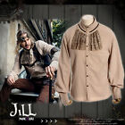 Steampunk aristocrat earth Machinist vintage look jabot dress shirt【JRSPM008】