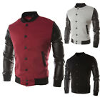 Men's Autumn Fashion Casual Coat Cotton Baseball Jacket Coat Slim Outwear Jacket