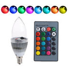 E12 3w Rgb Led 15 Colors Changing Candle Light Bulb Lamp &remote Control Home