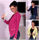 UK New Womens Lining Slim Short Suit Blazer Jacket Tops Ladies Outwear Coats
