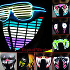 Sound activate Flashing LED Party Costume Mask Bandana US SELLER! FAST SHIPPING!