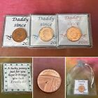 Daddy Since.. Lucky Penny Coin Keepsake Gift Christmas Birthday Year Date Bag