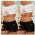 Women Ladies Summer Hot Pants Sexy Lace Hollow Floral Casual Beach Mini Shorts