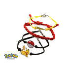 Pokemon Charm Bracelet Pikachu Eevee Poke Ball - Officially Licensed (4 Pack)