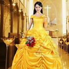 Adult Belle Princess Cosplay Costume Beauty and The Beast Halloween Party dress