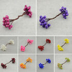Mini Fake Fruit Small Berries Artificial Flower cherry Bouquet Stamen Wedding ML
