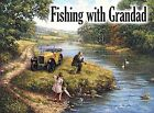 FISHING WITH GRANDAD - GRANDDAUGHTER GRANDSON ANGLING METAL SIGN TIN PLAQUE 464