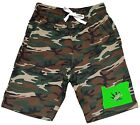 Men's Oregon Weed Leaf Map Fleece Camo Shorts Sweatpant Jogger Kush Blunt V353